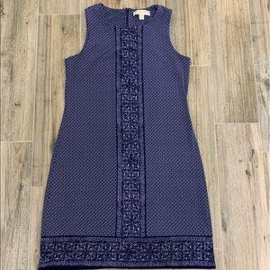 Michael Kors blue and white sleeveless dress